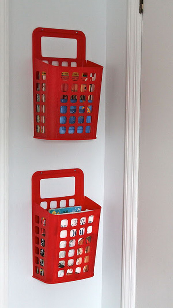 IKEA Waste Basket Book Storage. See more details