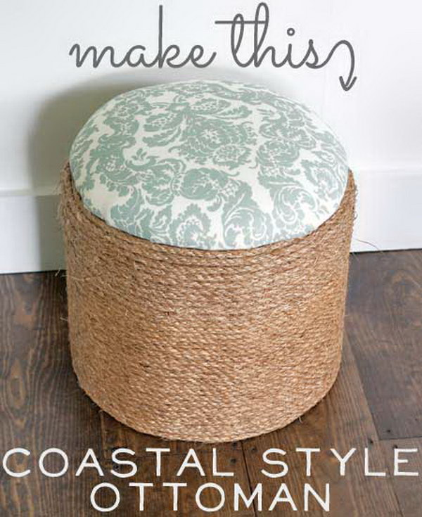 30 Diy Ottoman Floor Pouf Projects Awesome Tutorials