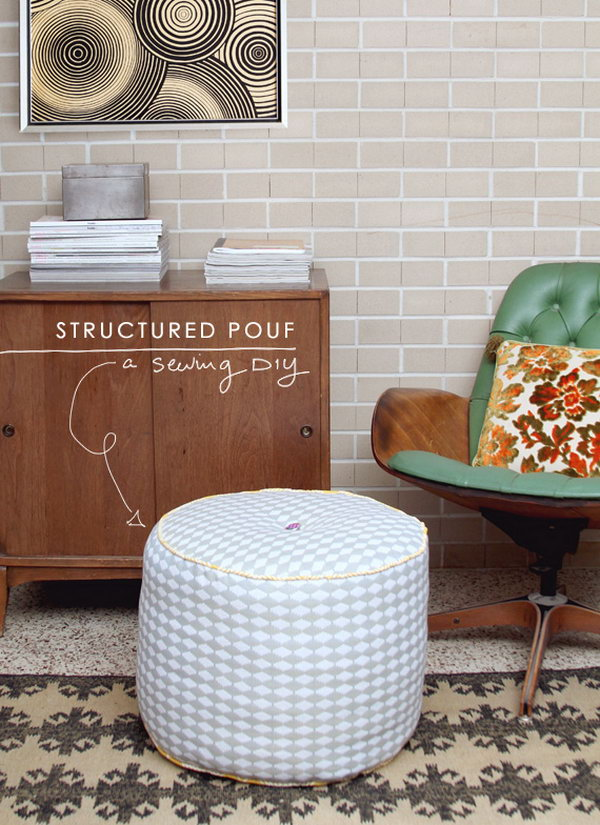 DIY Structured Pouf. See the tutorial