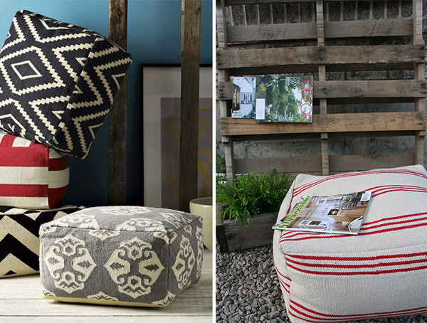 IKEA Hack for DIY Ottoman. See the details