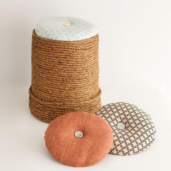 The Handyman's Ottoman. See how to make it