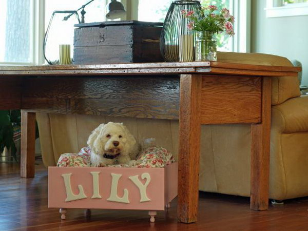 Turn An Old Dresser Drawer Into A Pet Bed.