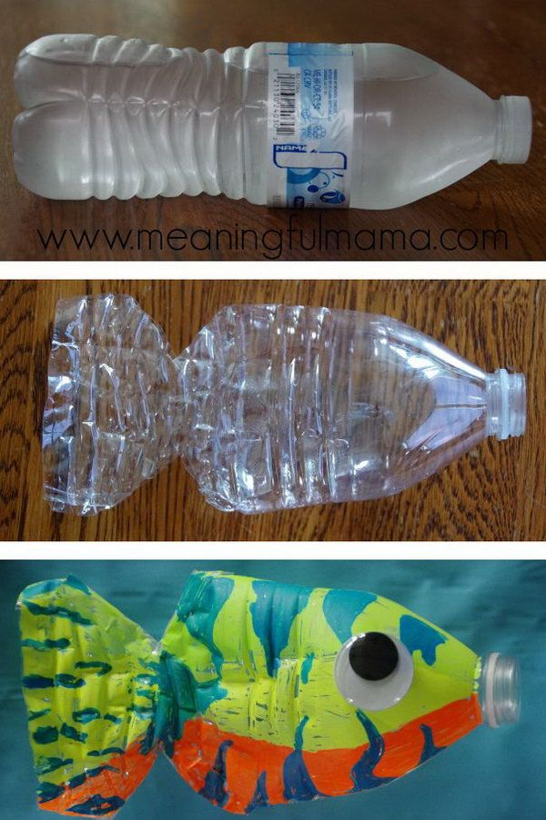 20 cool plastic bottle recycling projects for kids for Recycled water bottle crafts for kids