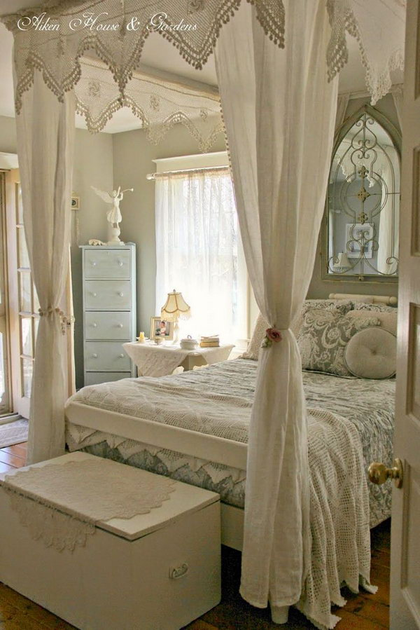 wonderful romantic shabby chic bedroom | 30 Shabby Chic Bedroom Ideas - Decor and Furniture for ...