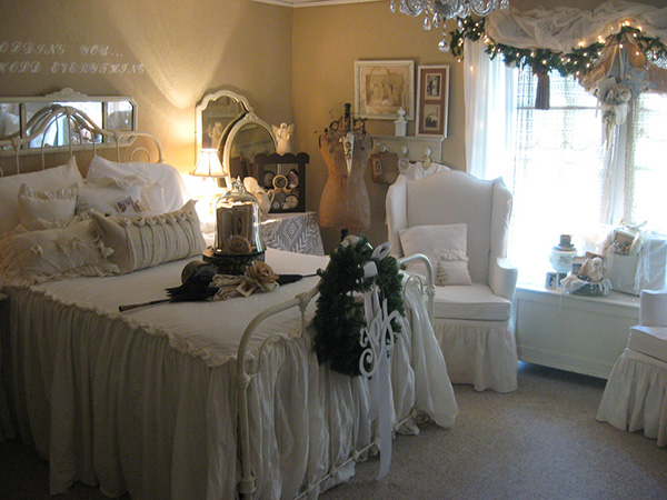 Vintage White Bedroom.