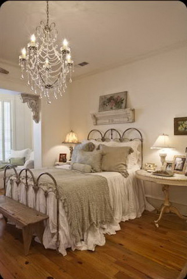 30 shabby chic bedroom ideas decor and furniture for Shabby chic bedroom accessories