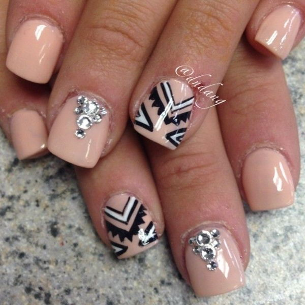 Nude Tribal Nail Designs.
