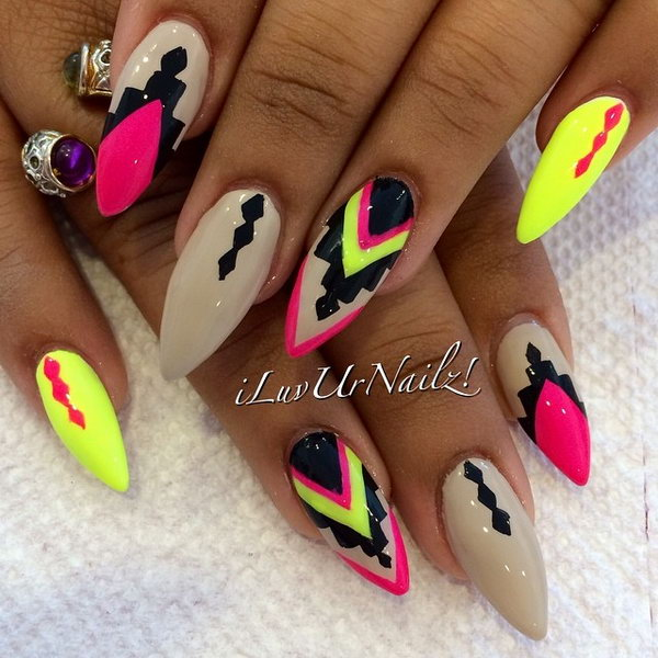 50 Pretty Tribal Nail Art Designs Noted List