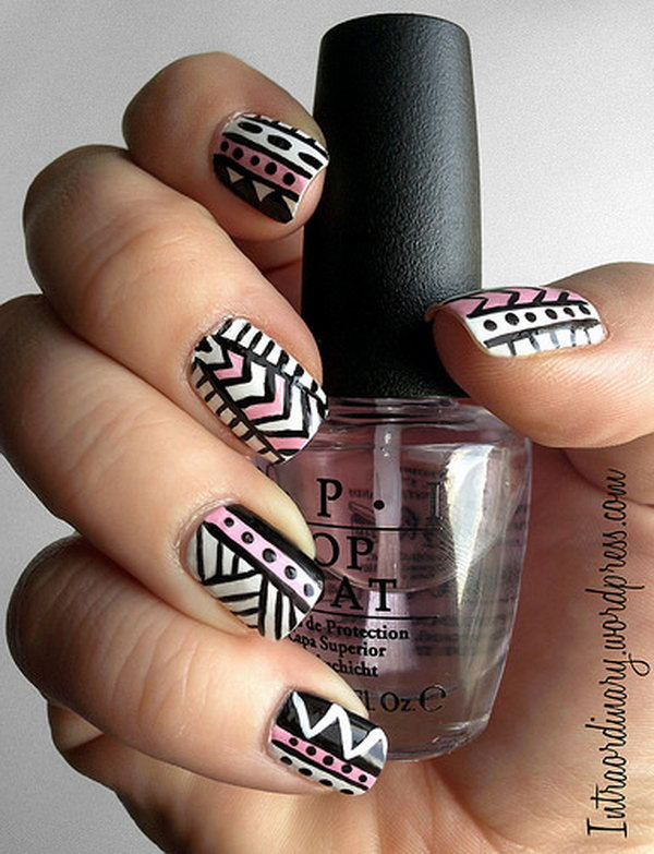 Tribal Pattern Nail Designs.