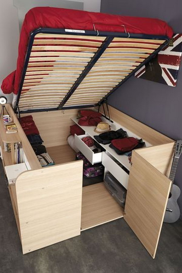 Mini closet Under Bed Storage Idea.