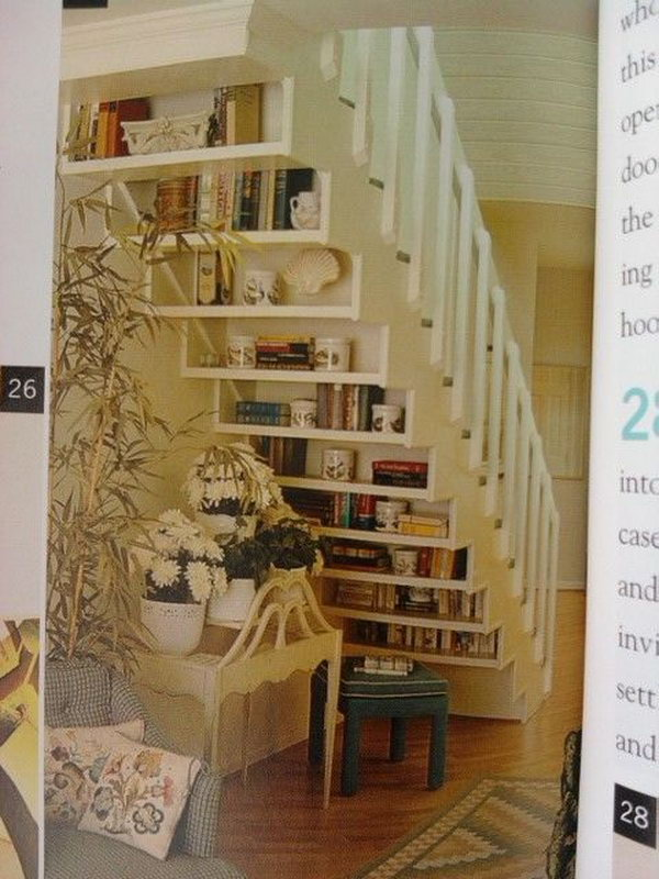 Floating Library under the Stairs.