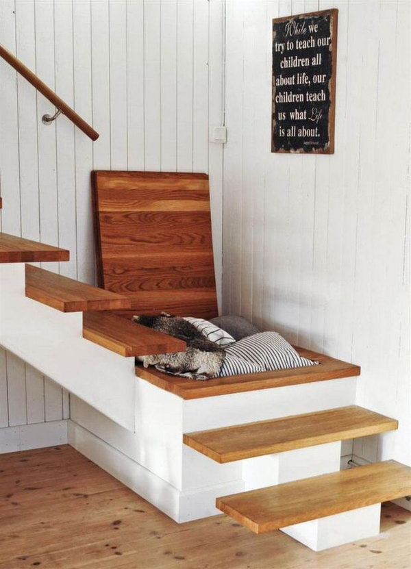 Another Creative Hidden Stair Storage Solution.