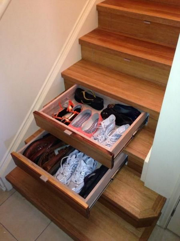 Creative under the stair storage ideas noted list for Under stairs drawers plans