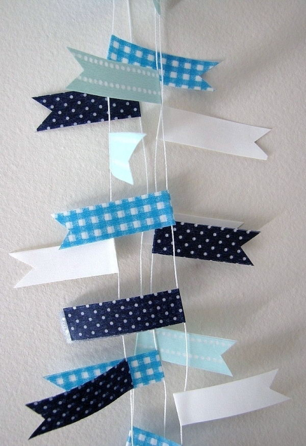 Washi Tape Garland.