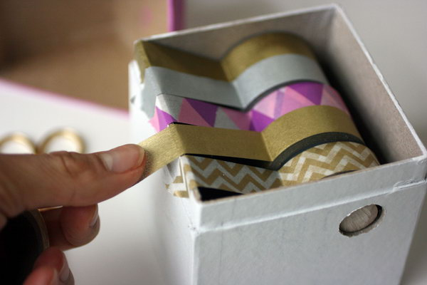 Washi Tape Dispenser. Get the tutorial