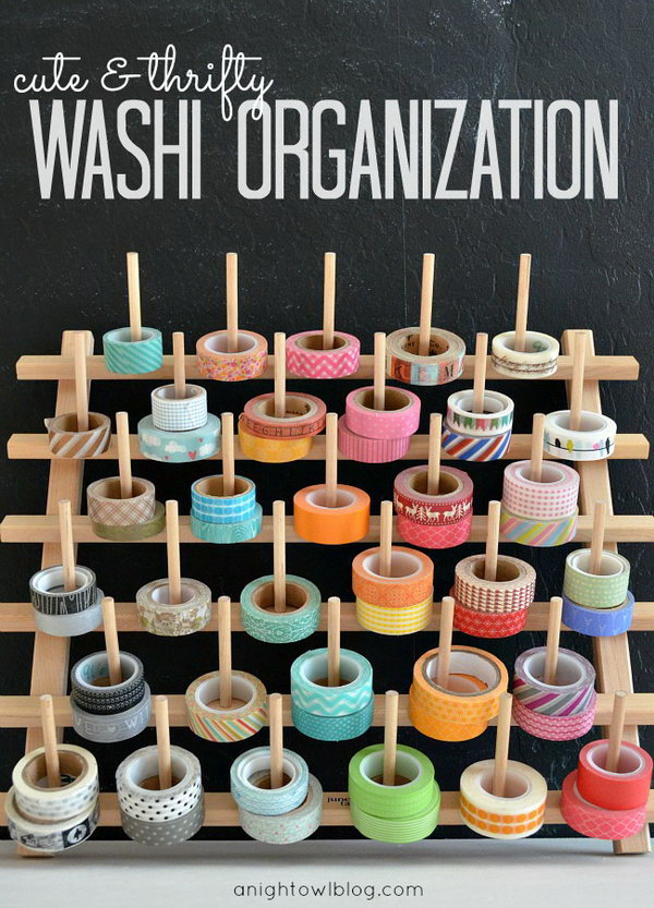 Spool Rack Washi Tape Storage Holder. Get more directions