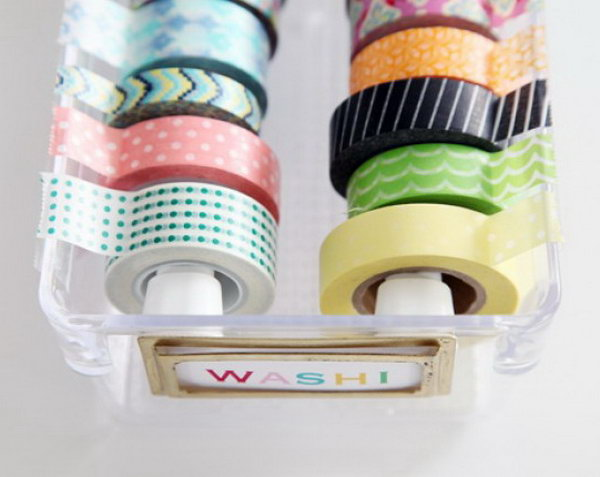 Plastic Drawers for Washi Tape Storage.