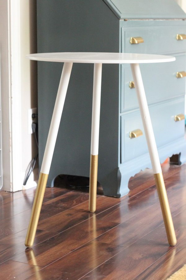 DIY Dipped Side Table.