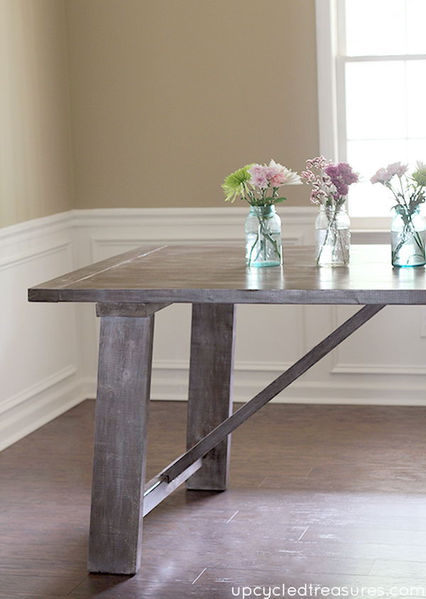 Wooden Truss Dining Table.