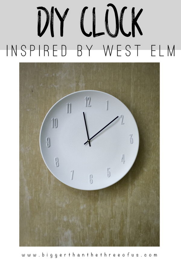 West Elm Clock Knock Off.
