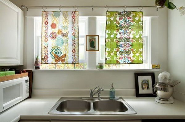 Tea Towel Curtains. See more details