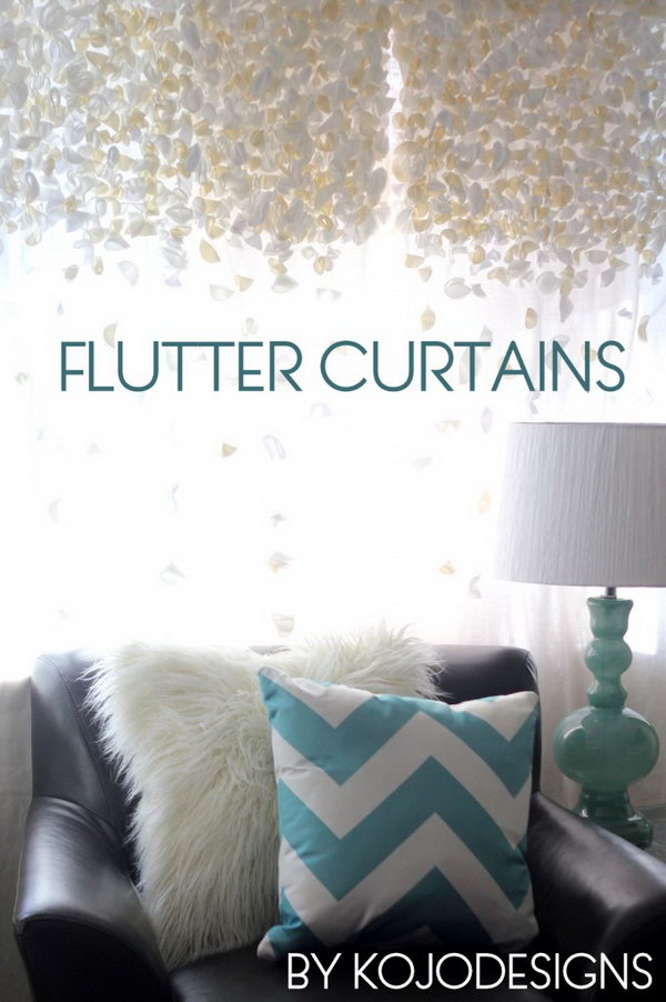 DIY Flutter Curtains. Get the tutorial