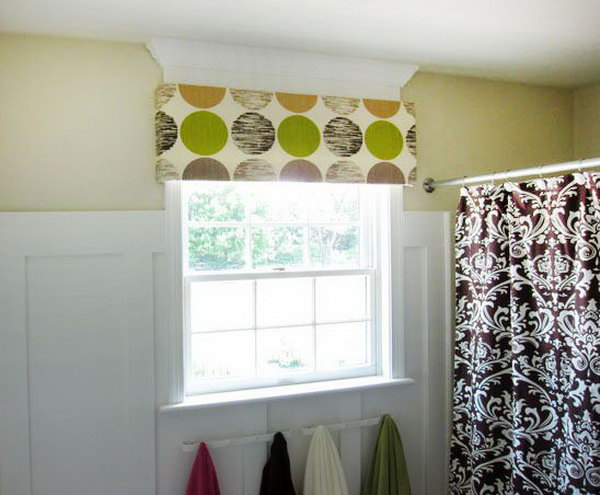 No Sew Foam Window Cornice. See how