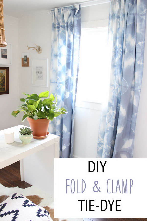 Fold + Clamp Tie Dye Curtains. Get the tutorial