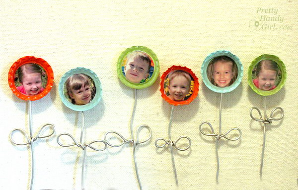 Creative bottle cap crafts noted list for How to make bottle cap flowers