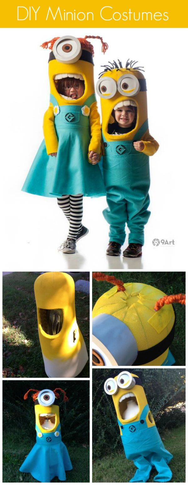 Handmade Minion Costumes.