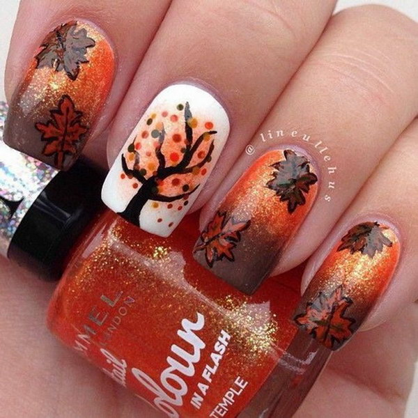 Fall Leavers and Tree Nail Design.