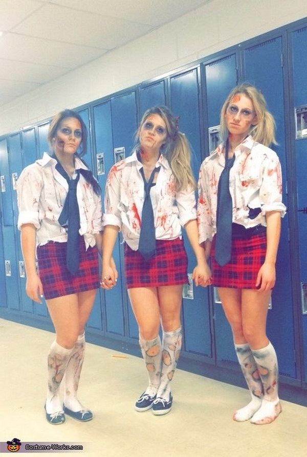 Zombie School Girls Halloween Costume