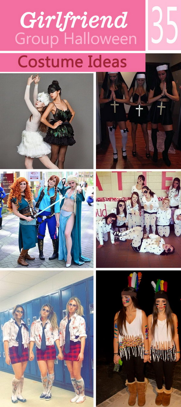 Lots of Girlfriend Group Halloween Costume Ideas!