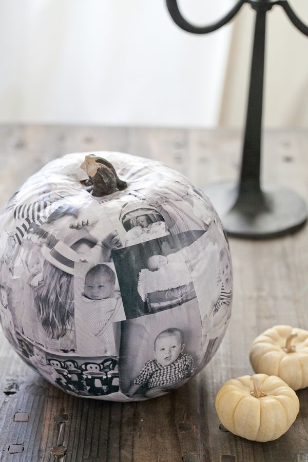 Decoupage Photo Pumpkin.