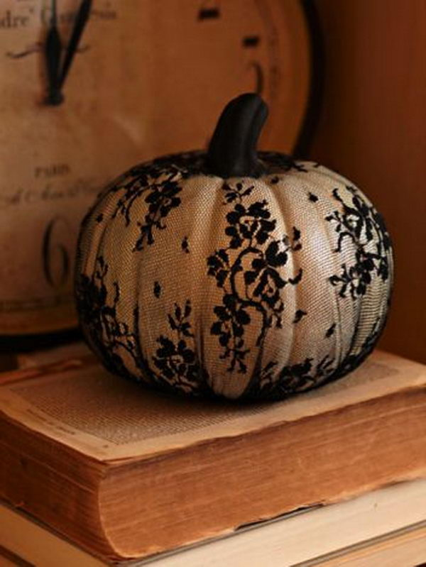 Creative and stylish no carve pumpkin decoration ideas for Different pumpkin designs