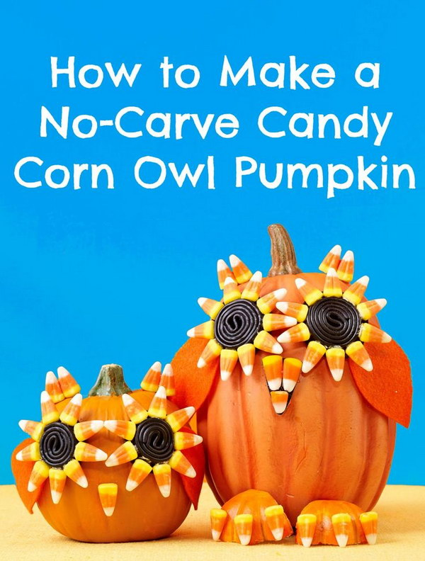 Halloween Candy Corn Owl Pumpkin.