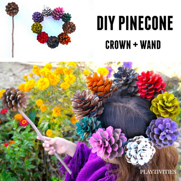 Pinecone Crown and Wand.