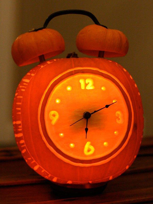 Alarm Clock Halloween Pumpkin.