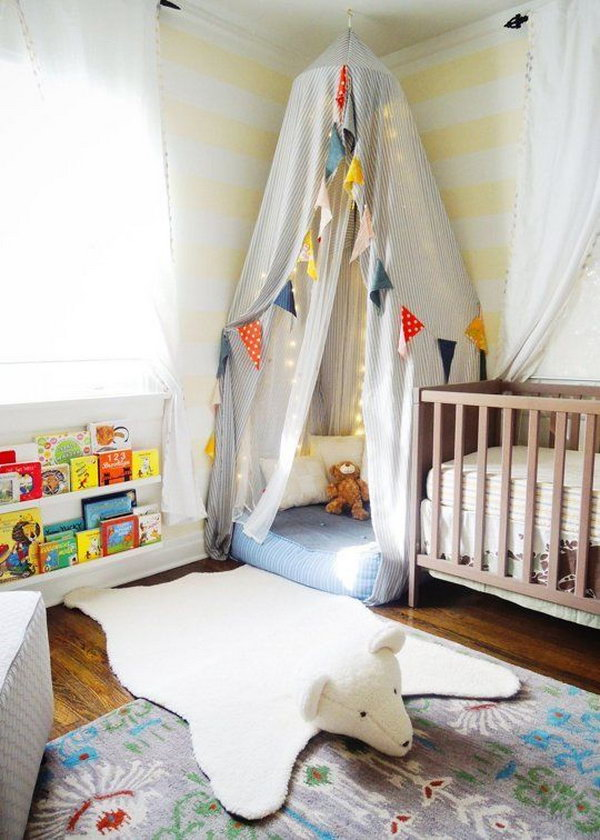 Polar Bear Rug. Obsessing over this white bear rug that goes perfect in a baby room.