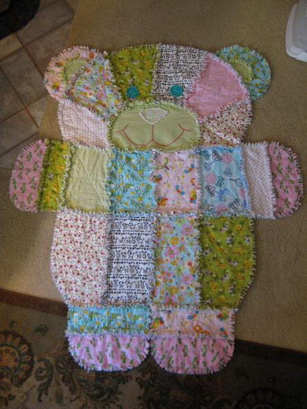 Teddy Bear Baby Rug. How cute would this be in a vintage bear themed little girl's room.