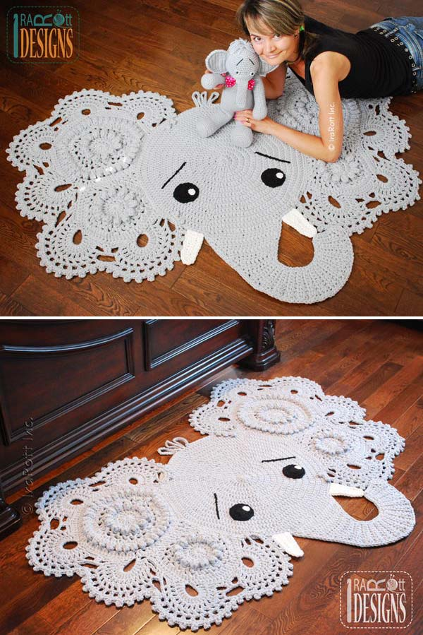 Crochet Elephant Rug : Crochet Elephant Rug. Look This Cute! Im so into it.