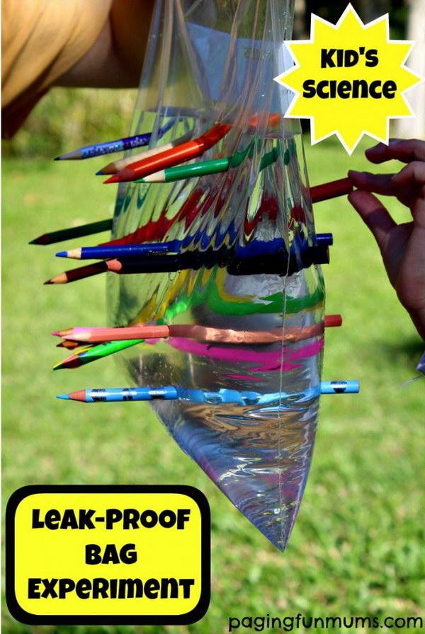 Leak Proof Plastic Bag – Kid's Science Experiment.