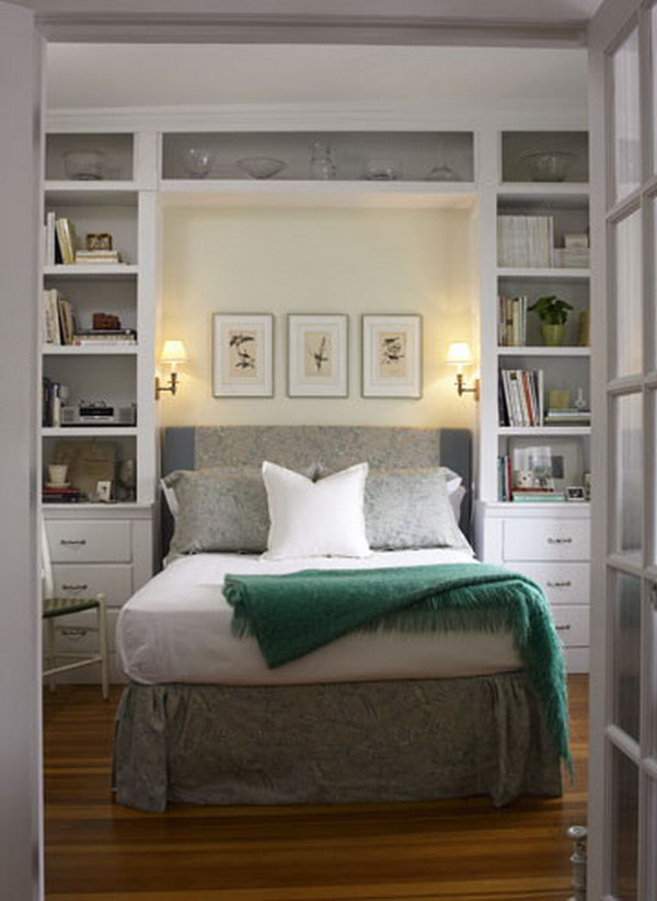 Storage Wall with Incorporated Custom Headboard.