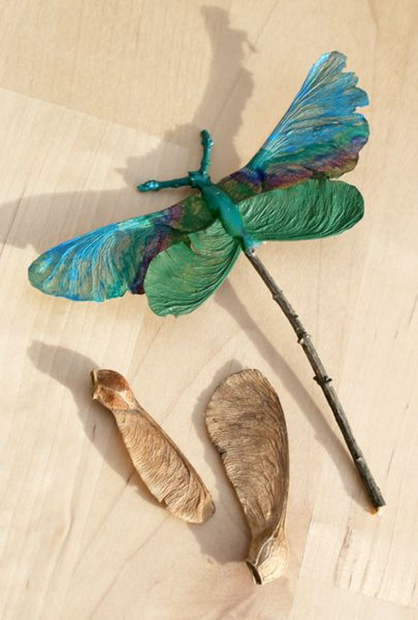 Dragonfly Made out of Maple Seeds and Twigs. It's like a real life Dragonfly!