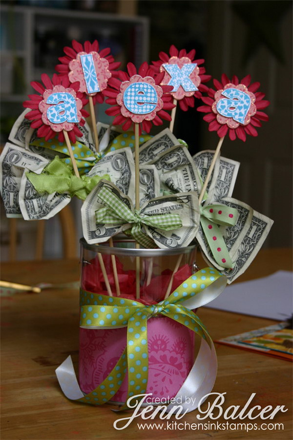DIY Money Bouquet.