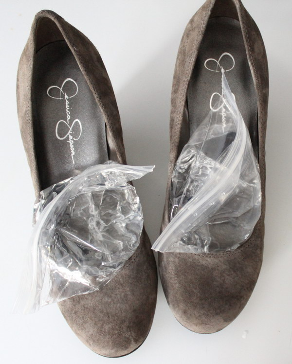 Easy Way to Stretching Shoes in the Freezer.