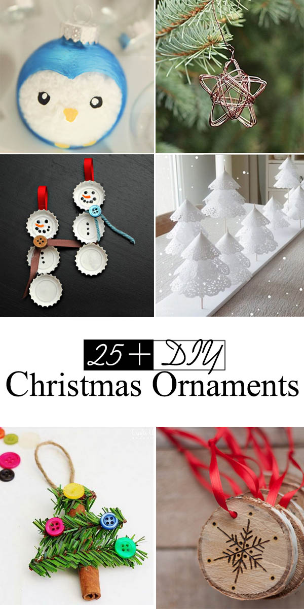 Lots of DIY Christmas Ornaments.