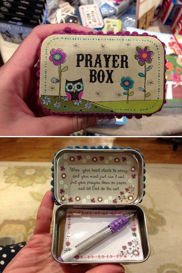 DIY Altoid Tin Prayer Box.