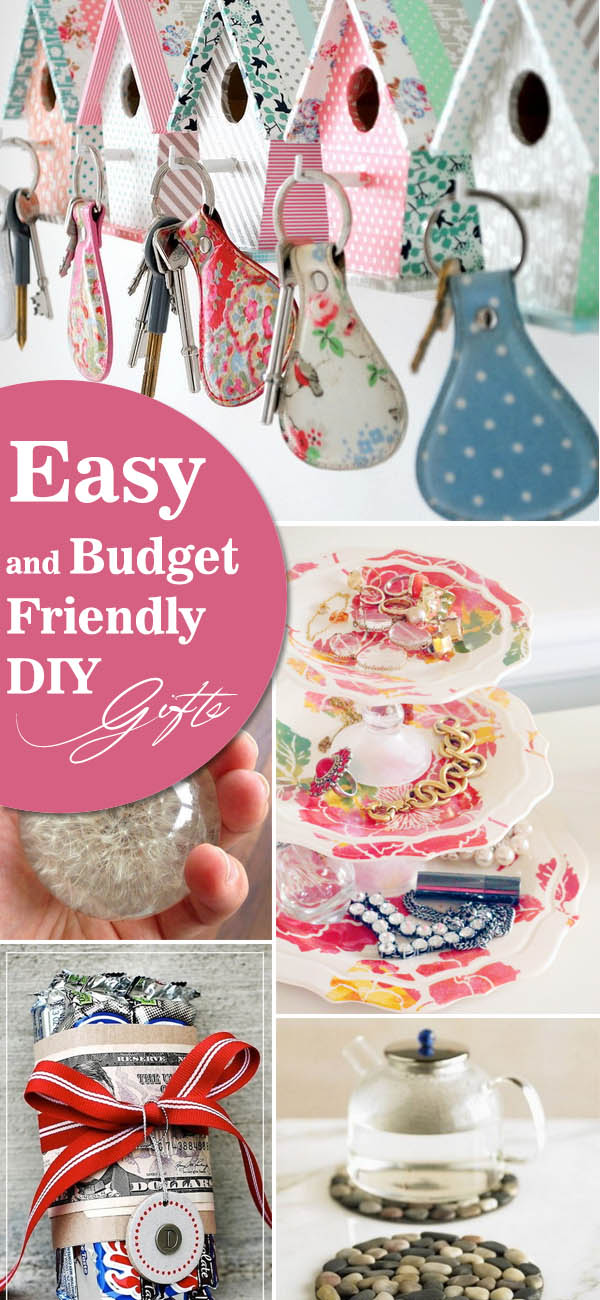 Easy and Budget Friendly DIY Gifts.