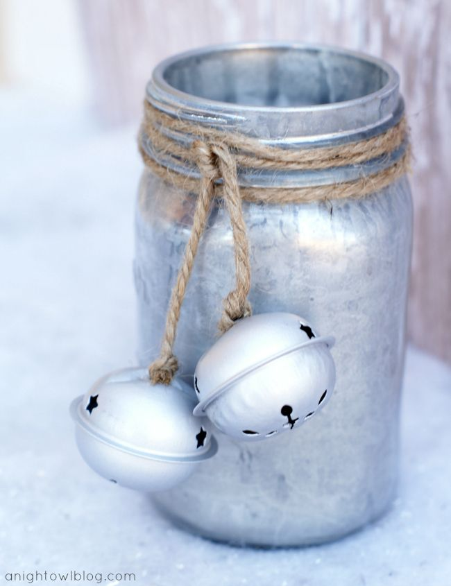 Cute Mercury Glass Mason Jars Tutorial